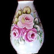 Hand-Painted Porcelain Bud Vase Plankenhammer Bavaria, Germany
