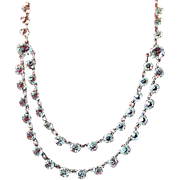 Fabulous Crystal and Silver Two-Tiered Necklace