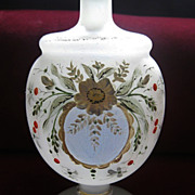 DelicateTurn of the Century  Hand-Painted Frosted Glass Perfumer