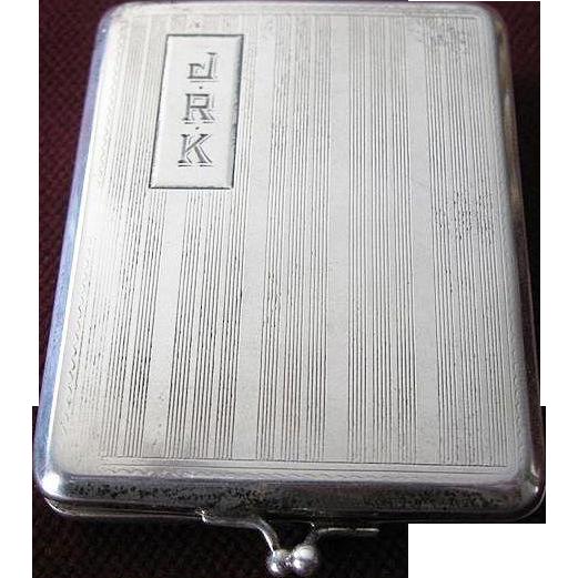 Art Deco Elgin AM Mfg. Co. Sterling Silver Match Holder