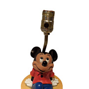 SOLD Vintage Mickey Mouse Table Lamp