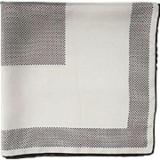 Vintage 1960's Creme and Brown Pin Dot Silk Scarf