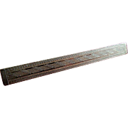 19th Century Geometric Gold Bar Pin