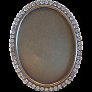 SOLD Vintage Miniature Crystal Oval Picture Frame