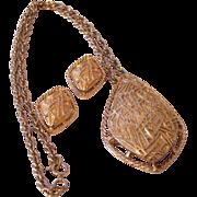 "SALE ""Modern Design"" Sarah Coventry Jewelry Set 1960's"
