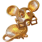 SALE Avon Mouse With Moving Eye Glasses Pin