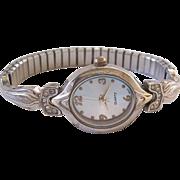 Art Deco Styled Quartz Watch With Rhinestones
