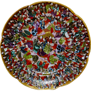 Japanese Satsuma Thousand Faces Plate