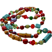 Eclectic Necklace With Many Components