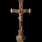 Antique Ecclesiastical Christianity Cross or Crucifix