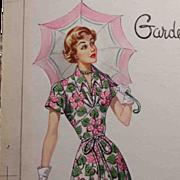 Original c1950s Fashion Illustration for Advertising, Magazine