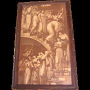 SOLD Pre Raphaelite Print, The Golden Stairs, Coley Burne-Jones