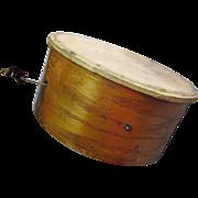 19thC Toy, Drum w/ Pull String Mechanism, Musical Instrument