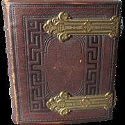 c1870s Tooled Leather CDV Photograph Album, Providence RI Family