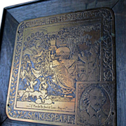 c1900 Rutledge Arts & Crafts 12th Night Shakespeare Plaque