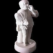 19thC Parian Porcelain Figurine Gentleman Gardener w/Tools