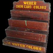 Antique Weber Paint Tiered Wood Display Shelf