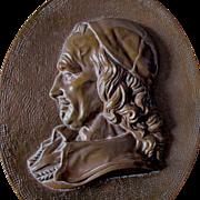 Antique Plaque of French Nobleman, Cardinal Richelieu