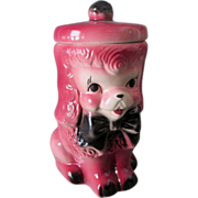 c1950's American Bisque Pink Poodle Dog Cookie Jar