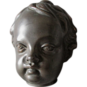 Charming Bronze Sculpture of a Cherub or Baby