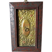 SOLD Lovely Folk Art Ecclesiastical Plaque in Carved Frame, More Light