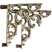 Pair Lovely 19thC Cast Iron Architectural Brackets with Scrolls