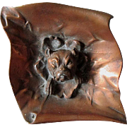 Whimsical Bronze Boxer, Pit Bull, Boston Terrier Dog Calling Card Tray