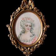 Antique Miniature Painting Madame de Montesson