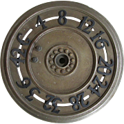 Antique Architectural Elevator, Floor Indicator Dial