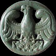 Antique Prussian Eagle Architectural Cast Iron Plaque
