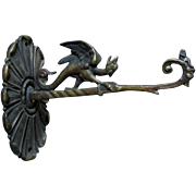 SOLD Neat Antique Bronze Dragon, Griffin Architectural Wall Hook