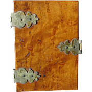 Lovely Curly Maple 19thC Folk Art Sewing Needle Case, Pincushion