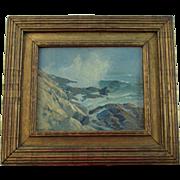 Listed Artist Alexander Bower Impressionistic Seascape
