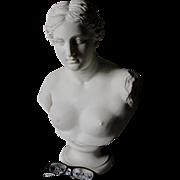 Large 19thC Parian Porcelain Venus De Milo Bust, Sculpture