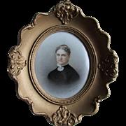 19thC Berlin KPM Porcelain Plaque of Victorian Woman Signed Otto Eckardt
