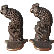 c1920s Art Deco Parrot, Bird Cast Iron Bookends