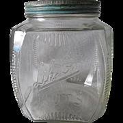 Antique Advertising Lik-Em Nuts, Store Display Jar