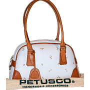 SALE Vintage Petusco Zip Top Valise from Spain