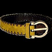 SALE Salvatore Ferragamo Gancini Signature Tri-Color Belt from Italy REDUCED