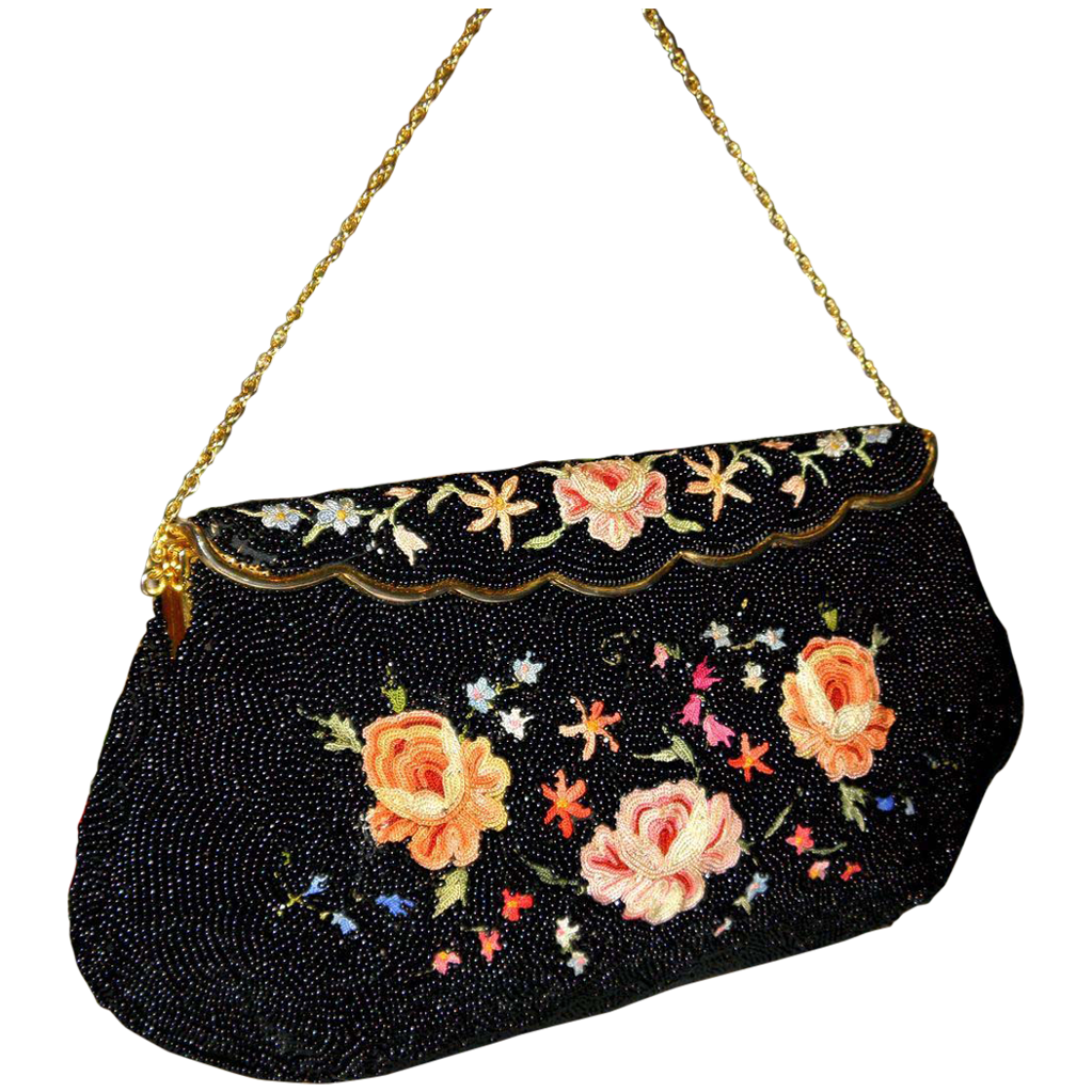 Vintage 1940 S Bag By Josef Beaded Bag From France