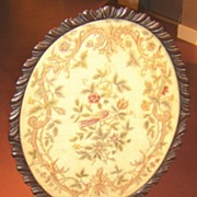 Irish Tilt Top Tea Table with Needlework Tray Top