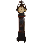 19th c. Swedish Tall Case Clock with Painted Case