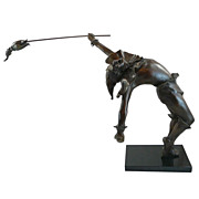 "Sculpture in Bronze ""Petrouchka II"" by Martin Glick, signed"