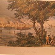 St. Louis, Missouri Hand-Colored Print ca. 1870