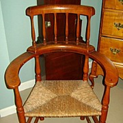 19th c. Rush Seat Chair