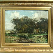 Taylor Brown 19th c. English Landscape Oil Painting