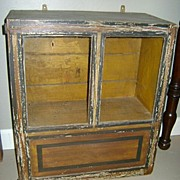 19th c. Glazed Hanging Cupboard in Old Paint