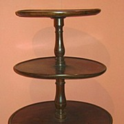 19th c. English Mahogany Three-Tier Etagere or Dumbwaiter