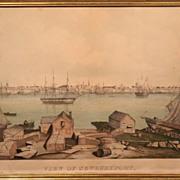 "Fitz Hugh Lane ""View of Newburyport"" Lithograph ca. 1846"