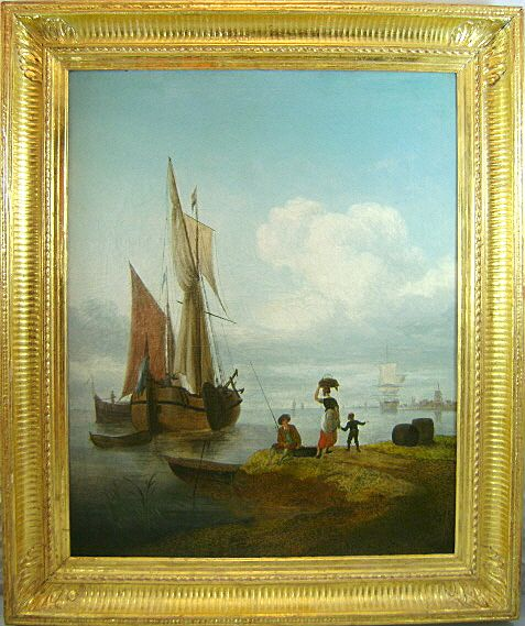In the Manner of Jacob Van Stry Oil Painting Marine Scene